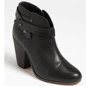 Rag & Bone Black Harrow Leather Boot